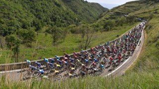 Cycling: 99th Tour of Italy 2016 / Stage 4 Illustration / Peloton / Mountain Landscape / BONIFATI 409m/  Catanzaro - Praia a Mare (200Km)/  Giro / (Photo by Tim de Waele/Corbis via Getty Images)