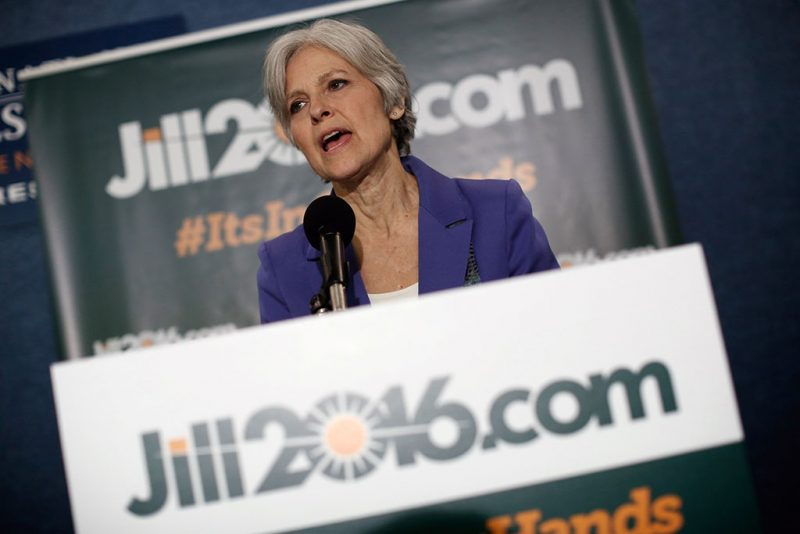 WASHINGTON, DC - FEBRUARY 06: Green Party presidential nominee Jill Stein speaks at the National Press Club February 6, 2015 in Washington, DC. Stein announced the formation of an exploratory committee to seek the Green Party's presidential nomination again in 2016.   Win McNamee/Getty Images/AFP / AFP PHOTO / GETTY IMAGES NORTH AMERICA / WIN MCNAMEE