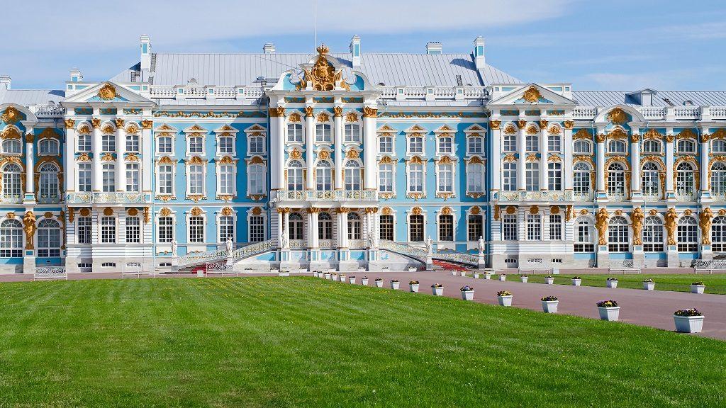 Catherine palace in Pushkin, Saint Petersburg, Russia
