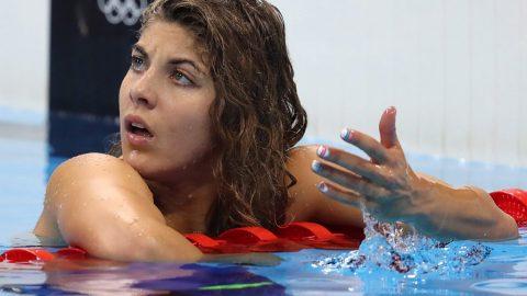 Rio de Janeiro, 2016. augusztus 10.Szilágyi Liliána a riói nyári olimpia női 200 méteres pillangóúszásának elődöntője után a Rio de Janeiró-i olimpia Uszodában 2016. augusztus 9-én. Szilágyi a tizedik helyen zárt. (MTI/EPA/Esteban Biba)