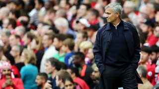 Manchester United manager Jose Mourinho during the Premier League match between Manchester United and Manchester City played at Old Trafford, Manchester on 10th September 2016 - Photo Matt West / BPI / DPPI
