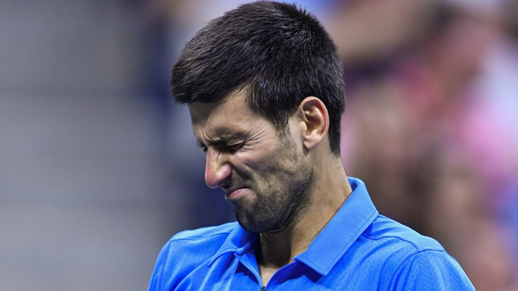 NEW YORK, USA - SEPT 11, Novak Djokovic of Serbia in action against Stan Wawrinka of Switzerland during their Men's Singles Final Match of the 2016 US Open at the USTA Billie Jean King National Tennis Center on September 11, 2016 in New York.  photo by VIEWpress