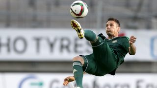 Slask Wroclaw's Dudu plays the ball during the UEFA Europa League second qualifying round, second leg football match between IFK Goteborg and Slask Wroclaw July 23, 2015 in Goteborg.      AFP PHOTO / TT NEWS AGENCY / BJORN LARSSON ROSVAL   +++   SWEDEN OUT / AFP PHOTO / TT NEWS AGENCY / BJORN LARSSON ROSVALL