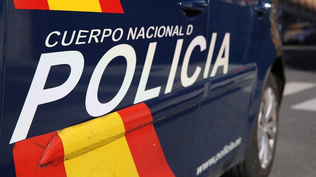 Police Car in Madrid. Spain