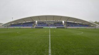 Szolnok, 2016. április 9.Az újjáépített Tiszaligeti Stadion Szolnokon a megnyitó napján, 2016. április 9-én.MTI Fotó: Máthé Zoltán