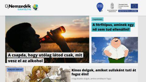 A kormányzat ujnemzedek.hu fiataloknak szóló magazinja