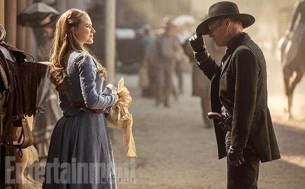 WestworldSeason 1, Episode 1Air Date 10/2/16Pictured: Evan Rachel Wood as Dolores Abernathy, Ed Harris as The Man in Black