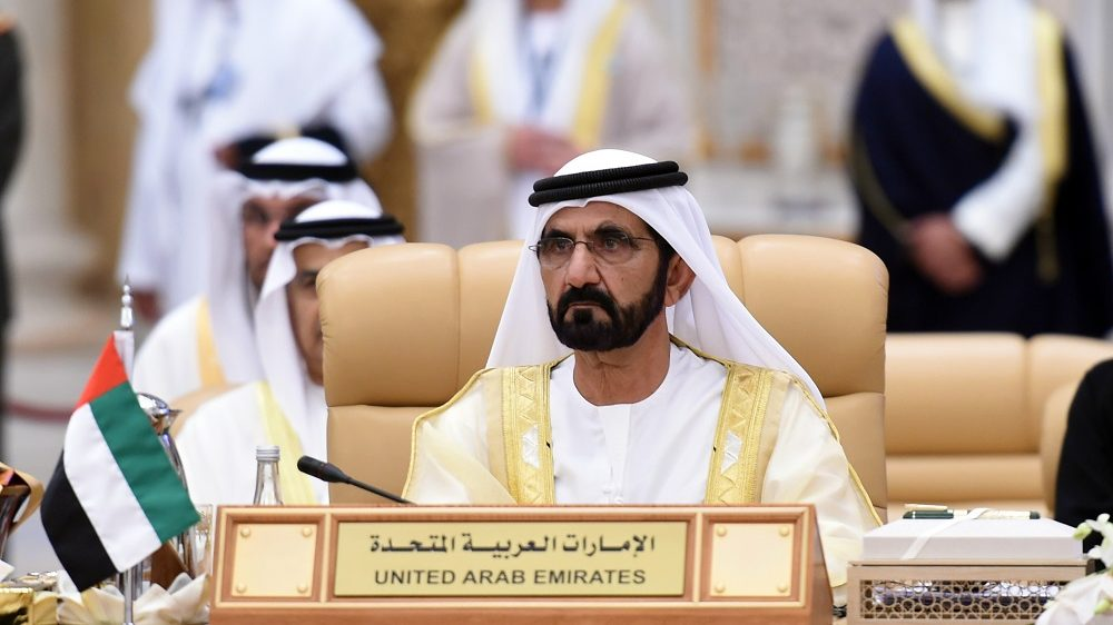 The United Arab Emirates' vice president and ruler of Dubai, Sheikh Mohammed bin Rashed al-Maktoum, attends the 4th Summit of Arab States and South American countries in the Saudi capital Riyadh, on November 11, 2015. The summit aims to strengthen ties between the geographically distant but economically powerful regions.  AFP PHOTO / FAYEZ NURELDINE / AFP PHOTO / FAYEZ NURELDINE