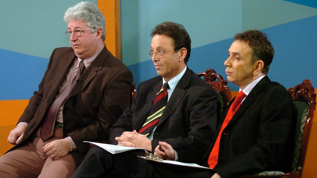 Pallagi Ferenc (balra), Betlen János és Orosz József a Napkeltében (MTI-fotó)