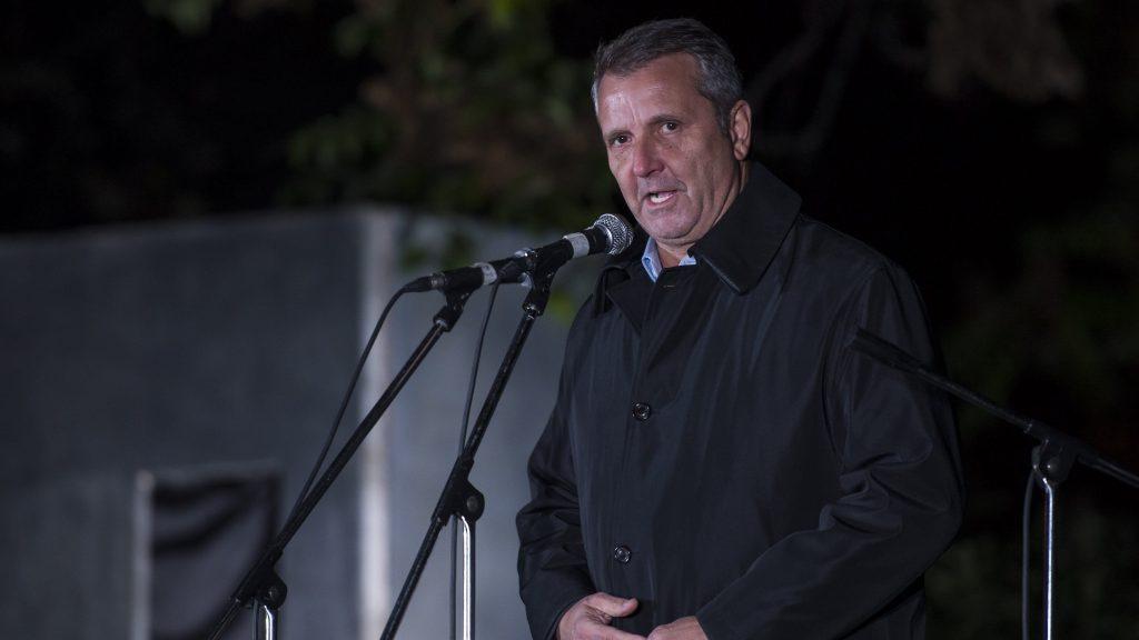 Kaposvár, 2016. október 22. Molnár Gyula, a Magyar Szocialista Párt (MSZP) elnöke a párt '56-os megemlékezésén Kaposváron 2016. október 22-én. MTI Fotó: Bodnár Boglárka