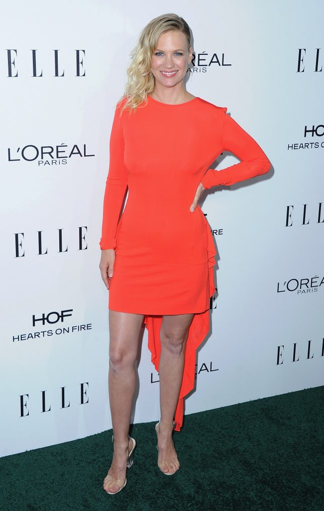 LOS ANGELES, CA - OCTOBER 24:  Actress January Jones arrives at the 23rd Annual ELLE Women In Hollywood Awards at Four Seasons Hotel Los Angeles at Beverly Hills on October 24, 2016 in Los Angeles, California.  (Photo by Jon Kopaloff/FilmMagic)