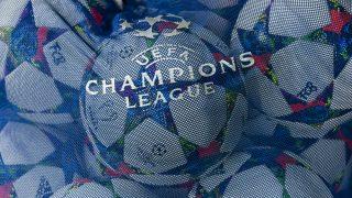 (GERMANY OUT) Das Logo der UEFA Champions League auf einem Ballsack waehrend dem UEFA Champions League 1/4 Finale Rueckspiel, FC Bayern Muenchen gegen Schachtar Donezk, in der Allianz Arena am 11.03.15 in MUENCHEN. Endstand 7:0. (Photo by GASPA/ullstein bild via Getty Images)