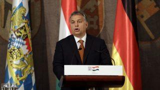 München 2016. október 17. Orbán Viktor miniszterelnök a müncheni magyar fõkonzulátus 1956-os megemlékezésén a bajor tartományi parlament müncheni épületében 2016. október 17-én. (MTI/AP/Matthias Schrader)