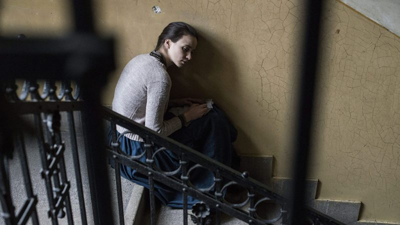 Budapest, 2015. december 7.A fiatal Mária szerepét alakító Törőcsik Franciska Mészáros Márta Aurora Borealis - Északi fény című filmjének forgatásán Budapesten 2015. december 2-án.MTI Fotó: Kallos Bea