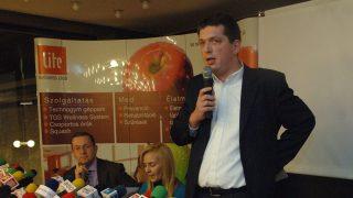 Pusztay András, a Magyar Televízió producere, a Médiaunió kuratóriumi elnökeként (MTI archív)