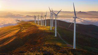 wind turbines in the Oiz eolic park