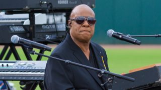 Stevie Wonder joins President Barak Obama in Kissimmee, Florida on Sunday, pNovember 6, 2016 to rally in support of Democratic presidential nominee Hillary Clinton and Florida senatorial candidate Patrick Murphy. - Michael Seeley