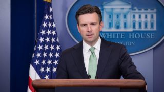 White House Press Secretary Josh Earnest delivered a press briefing and took questions from reporters in The James S. Brady Press Briefing Room of the White House in Washington, DC, on Wednesday, November 9, 2016. (Photo by Cheriss May/NurPhoto)