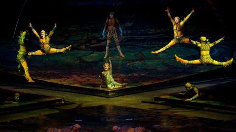 Budapest, 2012. május 17. Jelenet a kanadai Cirque du Soleil (Napcirkusz) társulat Alegría címû elõadásából a Papp László Budapest Sportarénában.  MTI Fotó: Kollányi Péter