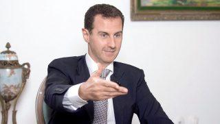 Damaszkusz, 2016. július 21. A SANA szíriai állami hírügynökség által 2016. július 21-jén közreadott képen Bassár el-Aszad szíriai elnök interjút ad a Prensa Latina kubai állami hírügynökségnek Damaszkuszban június 20-án. (MTI/EPA/SANA)