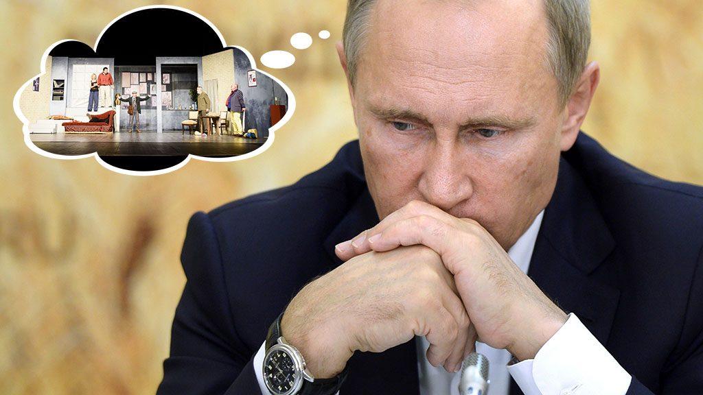 Russian President Vladimir Putin attends a meeting on agriculture while visiting farms in Rostov region, Russia, Thursday, Sept. 24, 2015. (Alexei Nikolsky/RIA-Novosti, Kremlin Pool Photo via AP)