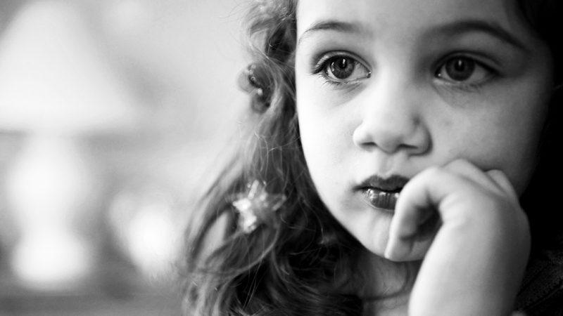 Portrait of forlorn child