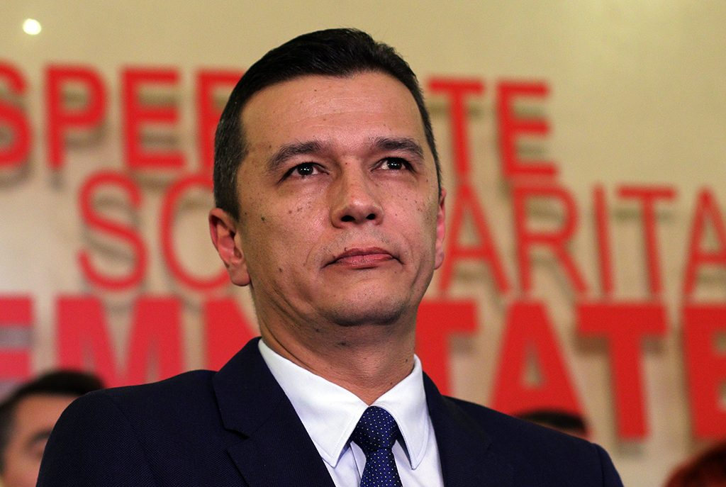Picture taken on December 28, 2016 shows Romanian social-democrat Sorin Grindeanu during a press conference in Bucharest.Romania's centre-right president Klaus Iohannis on December 30, 2016 named Sorin Grindeanu as the nation's new prime minister, bringing to a close weeks of uncertainty since the left won a parliamentary vote on December 11. / AFP PHOTO / Octav GANEA / Romania OUT