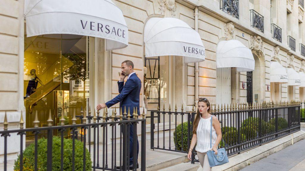 France, Paris, Avenue Montaigne, the Versace shop