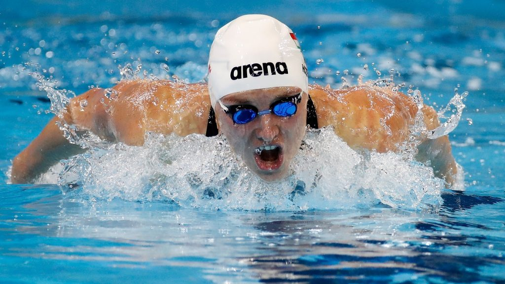 WINDSOR, CANADA - DECEMBER 07: Katinka Hosszu of Hungary competes in the 200m Butterfly final on day two of the 13th FINA World Swimming Championships (25m) at the WFCU Centre on December 7, 2016 in Windsor Ontario, Canada.   Gregory Shamus/Getty Images/AFP