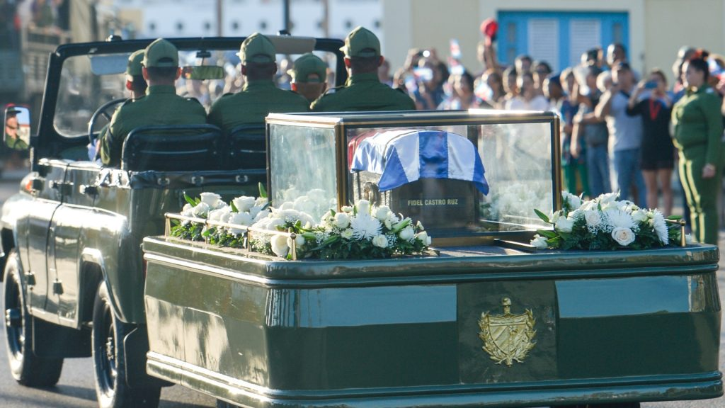 Thousands of Cubans lined the streets of Havana on Wednesday morning, to bid goodbye to Fidel Castro, as a caravan carrying his ashes began a four-day journey across the country to the eastern city of Santiago. Fidel Castro, the former Prime Minister and President of Cuba, who die on the late night of November 25, 2016, at age of 90.  On Wednesday, 30 November 2016, in Havana, Cuba. (Photo by Artur Widak/NurPhoto)