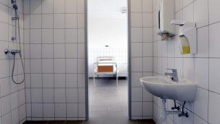 Budapest, 2016. március 11. Kórterem az Egyesített Szent István és Szent László Kórház-Rendelõintézet Merényi Gusztáv Kórház felújított pszichiátriai osztályán 2016. március 11-én. A 64 ágyas pszichiátriai osztály teljes körû, a 69 ágyas pszichiátriai rehabilitációs osztály pedig részleges felújításon esett át, a beruházás 69 millió forintba került. MTI Fotó: Kovács Tamás