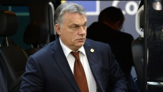 Hungary's Prime minister Viktor Orban arrives for a European Union leaders summit focused on Russia sanctions and migration at the European Council in Brussels on December 15, 2016.A EU summit was focusing on Russia sanctions and migration on December 15, with 27 leaders also meeting over dinner to discuss Brexit, without British Prime Minister Theresa May.  / AFP PHOTO / THIERRY CHARLIER
