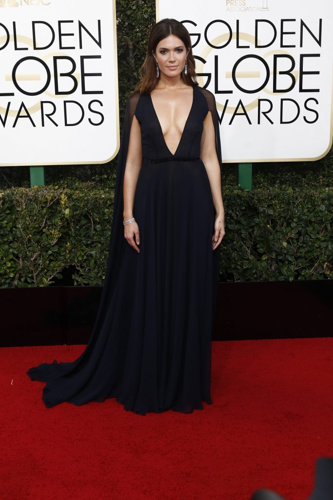 Mandy Moore arrives at the 74th Annual Golden Globe Awards, Golden Globes, in Beverly Hills, Los Angeles, USA, on 08 January 2017. Photo: Hubert Boesl Photo: Hubert Boesl/