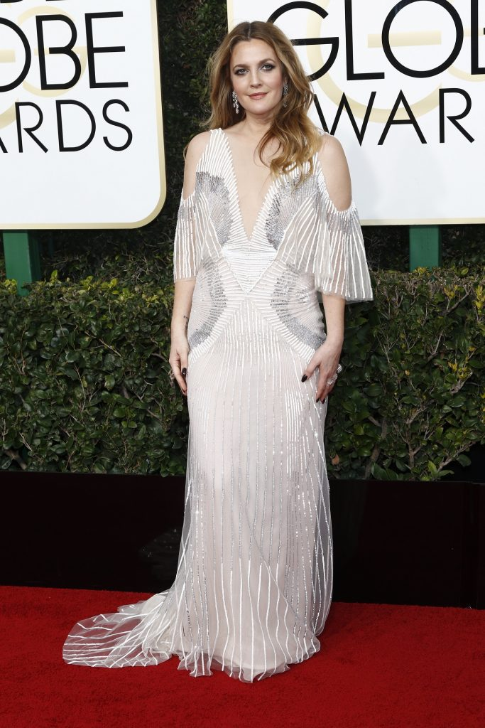 Drew Barrymore arrives at the 74th Annual Golden Globe Awards, Golden Globes, in Beverly Hills, Los Angeles, USA, on 08 January 2017. Photo: Hubert Boesl Photo: Hubert Boesl/