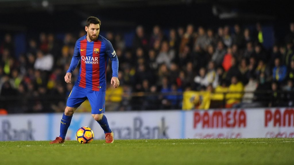 Leo Messi during the match between Villarreal CF against FC Barcelona, week 17 of La Liga 2016/17 in Ceramica stadium, Villarreal, SPAIN - 8th January  of 2017. (Photo by Jose Breton/Nurphoto)   (Photo by Jose Breton/NurPhoto)