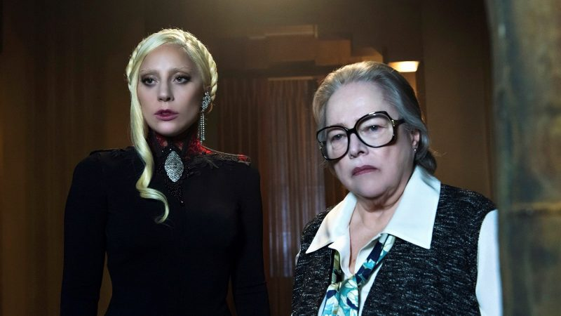 "AMERICAN HORROR STORY -- ""Flicker"" Episode 507 (Airs Wednesday, November 18, 10:00 pm/ep) Pictured: (l-r) Lady Gaga as The Countess, Kathy Bates as Iris. CR: Prashant Gupta/FX"