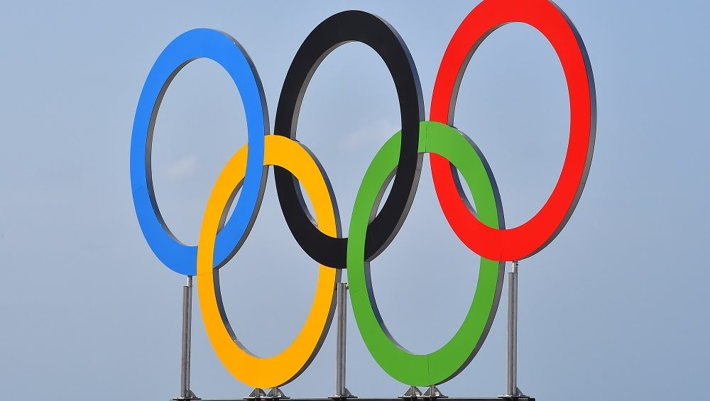 31st Rio 2016 Olympics / Previews Illustration / Olympics Rings Logo /  Summer Olympic Games / (Photo by Tim de Waele/Corbis via Getty Images)