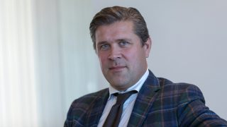 Bjarni Benediktsson, Iceland's finance minister, poses for a photograph following an interview at his office in Reykjavik, Iceland, on Wednesday, Aug. 24, 2016. As it dismantles the last remnants of capital controls that have protected its economy since late 2008, the liberalization is pushing Iceland into the global currency war that has dominated monetary polices from Japan to Switzerland. Photographer: Arnaldur Haldorsson/Bloomberg via Getty Images