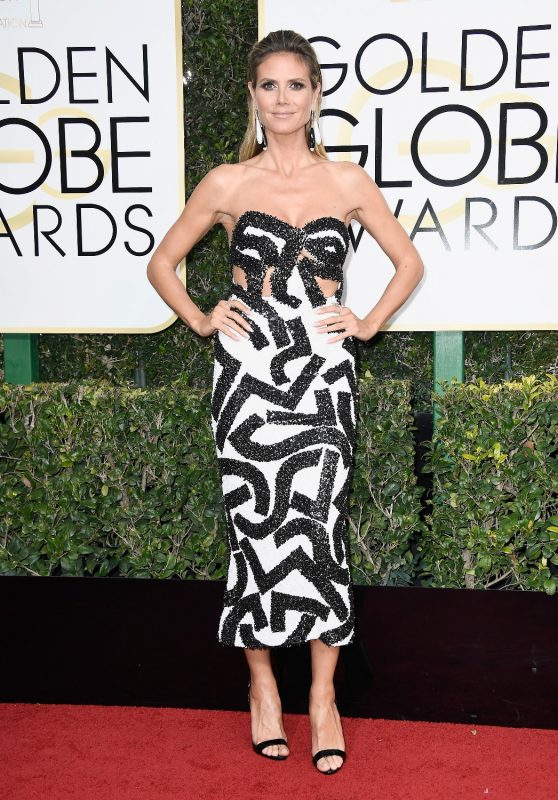 BEVERLY HILLS, CA - JANUARY 08: TV Personality Heidi Klum attends the 74th Annual Golden Globe Awards at The Beverly Hilton Hotel on January 8, 2017 in Beverly Hills, California.   Frazer Harrison/Getty Images/AFP