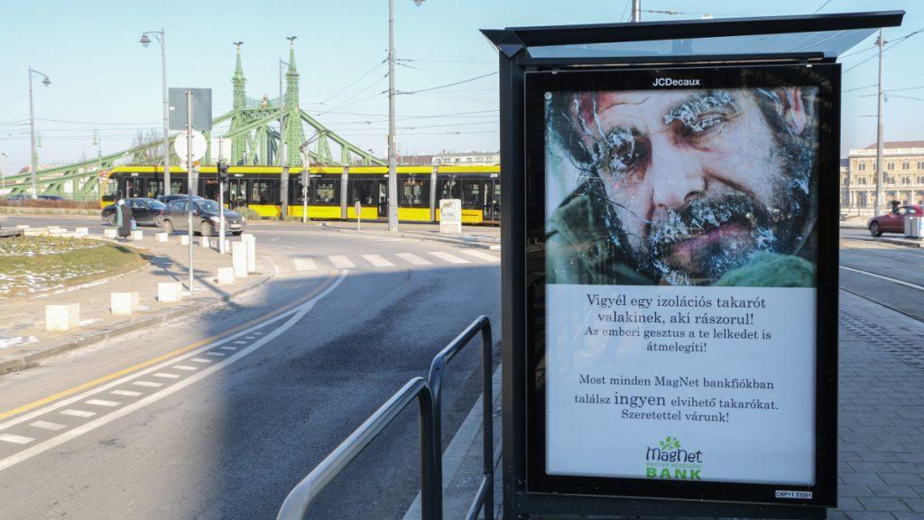 hajléktalanokat segítő plakát Budapesten