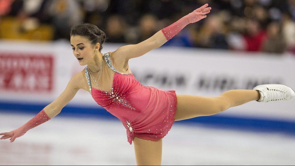 Boston, 2016. március 31. Tóth Ivett a nõi rövidprogram versenyszámban a bostoni mûkorcsolya- és jégtánc-világbajnokságon 2016. március 31-én. (MTI/EPA/CJ Gunther)