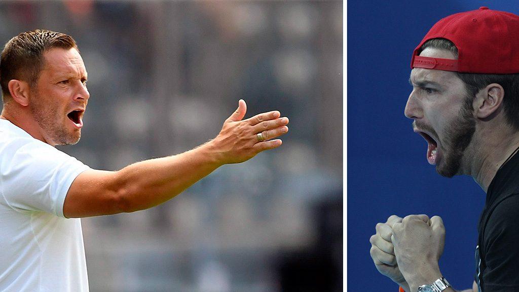 Kazany, 2015. augusztus 3.Shane Tusup, Hosszú Katinka férje és edzője a 200 méteres női vegyesúszás döntője közben a kazanyi vizes világbajnokságon 2015. augusztus 3-án. A versenyen Hosszú Katinka világcsúccsal győzött és védte meg címét.MTI Fotó: Kovács Anikó