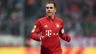 (FILES) This file photo taken on February 07, 2017 shows Bayern Munich's defender Philipp Lahm running during the German Cup DFB Pokal Round of 16 football match FC Bayern Munich v VFL Wolfburg in Munich, southern Germany. Germany's World Cup winning captain Philipp Lahm confirmed on February 08, 2017, he will retire at the end of the season and leave Bayern Munich, having rejected a role as sports director. / AFP PHOTO / Christof STACHE / RESTRICTIONS: ACCORDING TO DFB RULES IMAGE SEQUENCES TO SIMULATE VIDEO IS NOT ALLOWED DURING MATCH TIME. MOBILE (MMS) USE IS NOT ALLOWED DURING AND FOR FURTHER TWO HOURS AFTER THE MATCH. == RESTRICTED TO EDITORIAL USE == FOR MORE INFORMATION CONTACT DFB DIRECTLY AT +49 69 67880   /