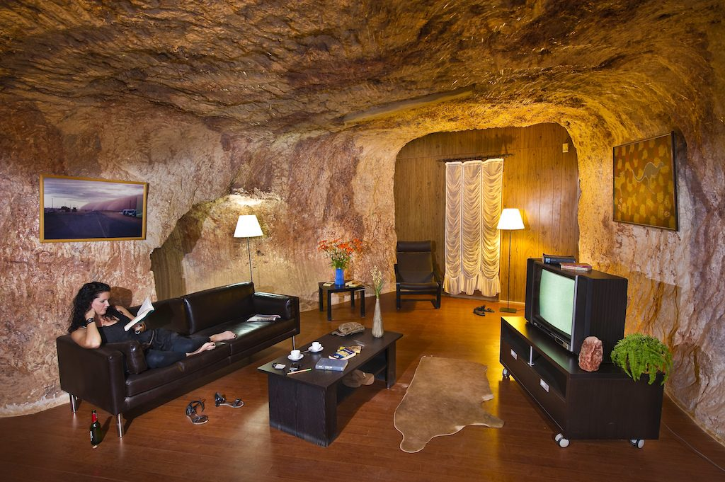 Australia, South Australia, Coober Pedy, Umoona Opal Mine and Museum, in the living room