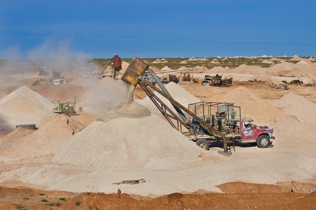 Australia, South Australia, Coober Pedy, a blower, a truck for opal mining symbol of Coober Pedy