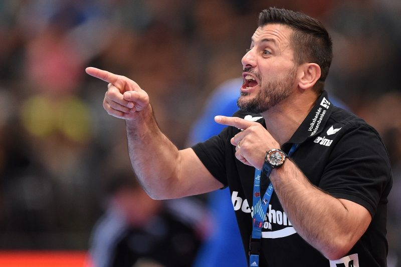 Flensburg's head coach Ljubomir Vranjes gestures during the Handball Champions League EHF Final Four finale between THW Kiel and SG Flensburg-Handewitt at Lanxess Arena in Cologne, Germany, 01 June 2014. Photo: MARIUS BECKER/DPA
