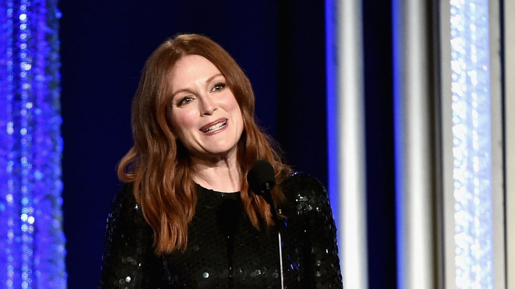 BEVERLY HILLS, CA - NOVEMBER 06: Presenter Julianne Moore speaks onstage during the 20th Annual Hollywood Film Awards on November 6, 2016 in Beverly Hills, California.   Alberto E. Rodriguez/Getty Images/AFP