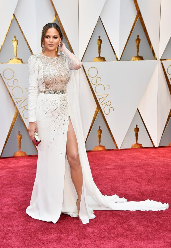 HOLLYWOOD, CA - FEBRUARY 26: Model Chrissy Teigen attends the 89th Annual Academy Awards at Hollywood & Highland Center on February 26, 2017 in Hollywood, California.   Frazer Harrison/Getty Images/AFP
