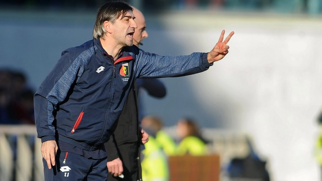 FLORENCE, ITALY - JANUARY 29: Ivan Juric Head Coach of Geona FC reacts during Italian Serie A soccer match between ACF Fiorentina and GENOA FC at Stadio Artemio Franchi in Florence, Italy on January 29, 2017.   Carlo Bressan / Anadolu Agency