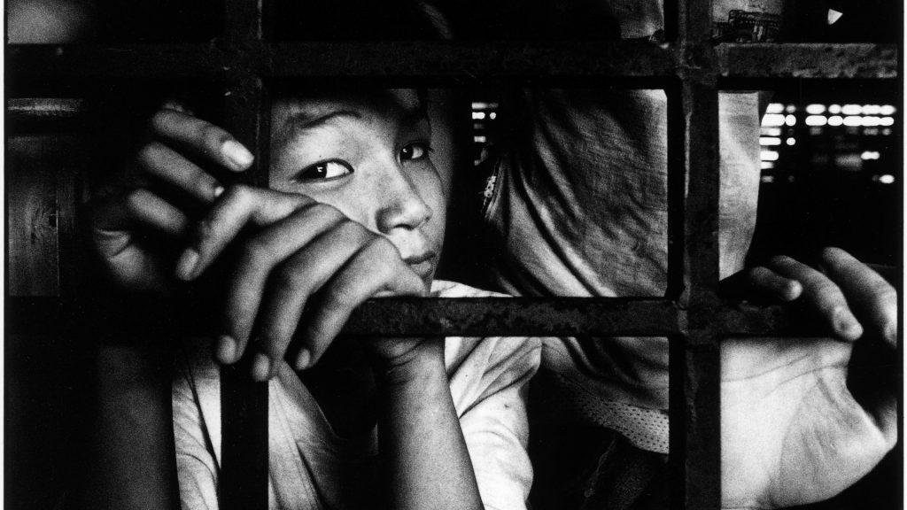 STREET CHILDREN  Jailed street child in Manila.   GODONG / BSIP